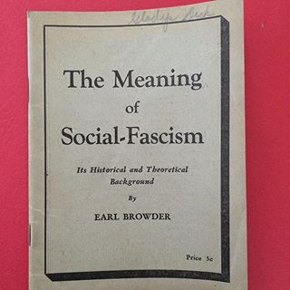 Image result for earl browder social fascism