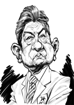 Image result for Jean luc melenchon caricature